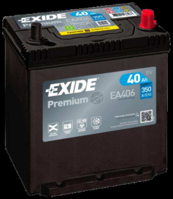 autobateria-exide-premium-12v-40ah-ea406-350a, Autobateria Exide Premium 12V 40Ah EA406