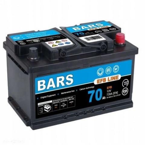 Autobateria-Bars-EFB-Line-12V-70Ah-720A-L3-start-Stop, Autobateria Bars EFB Line 12V 70Ah 720A L3 start Stop