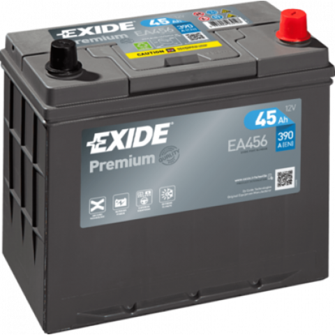 autobateria-exide-premium-12v-45ah-ea456-390a, Autobateria Exide Premium 12V 45Ah EA456