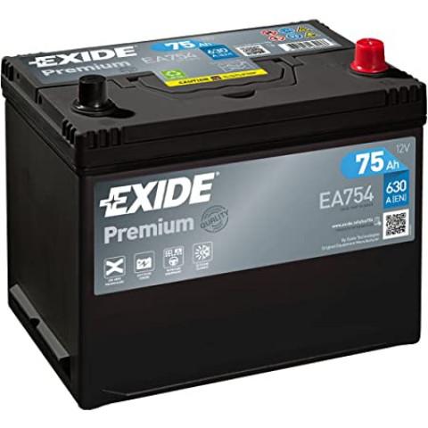 autobateria-exide-premium-12v-75ah-ea754-630a, Autobateria Exide Premium 12V 75Ah EA754
