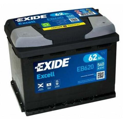 Autobatéria Exide Excell 12V 62Ah 540A EB620, autobateria-exide-excell-12v-62ah-540a-eb620