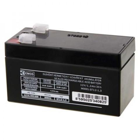 Emos-Bezudrzbovy-oloveny-akumulator-12V/1,3Ah-faston-4,7-mm-B9652