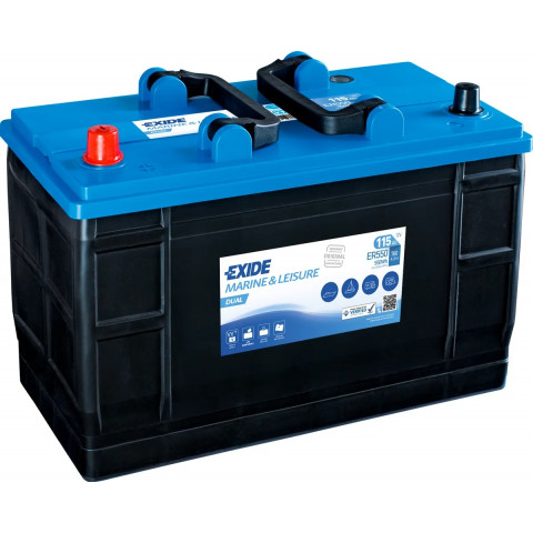 Trakčná batéria EXIDE DUAL 115Ah 12v 760a ER550, autobateria-exide-dual-12v-115ah-760a-er550