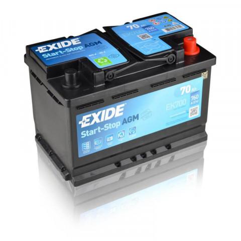 autobateria-exide-start-stop-agm-12v-70ah-760a-ek700, Autobateria Exide Start Stop AGM 12V 70Ah EK700 760A