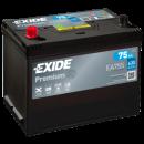 autobateria-exide-premium-12v-75ah-ea755-630a, Autobateria Exide Premium 12V 75Ah EA755