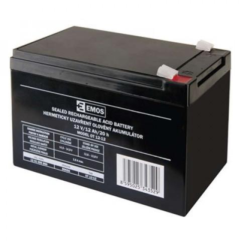 Emos olovený akumulátor 12V/12Ah B9656